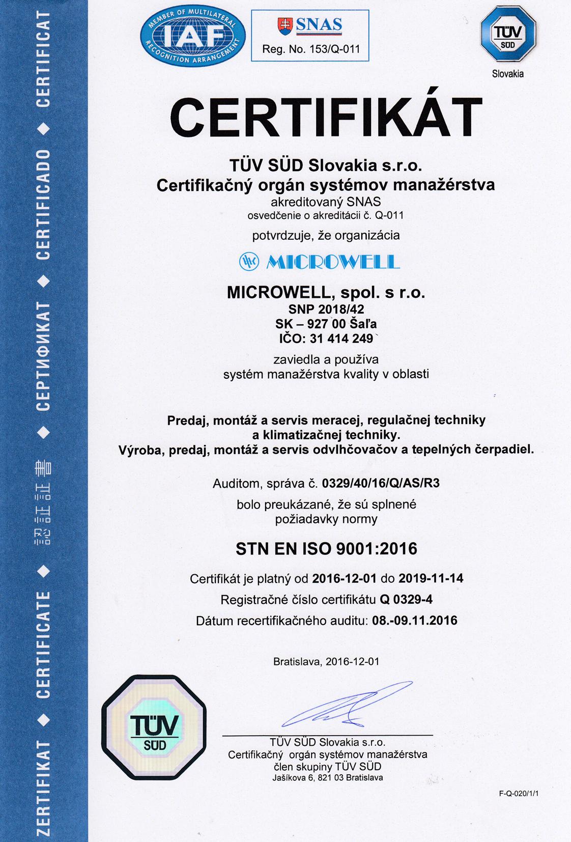 Sk certifikat9001 2018