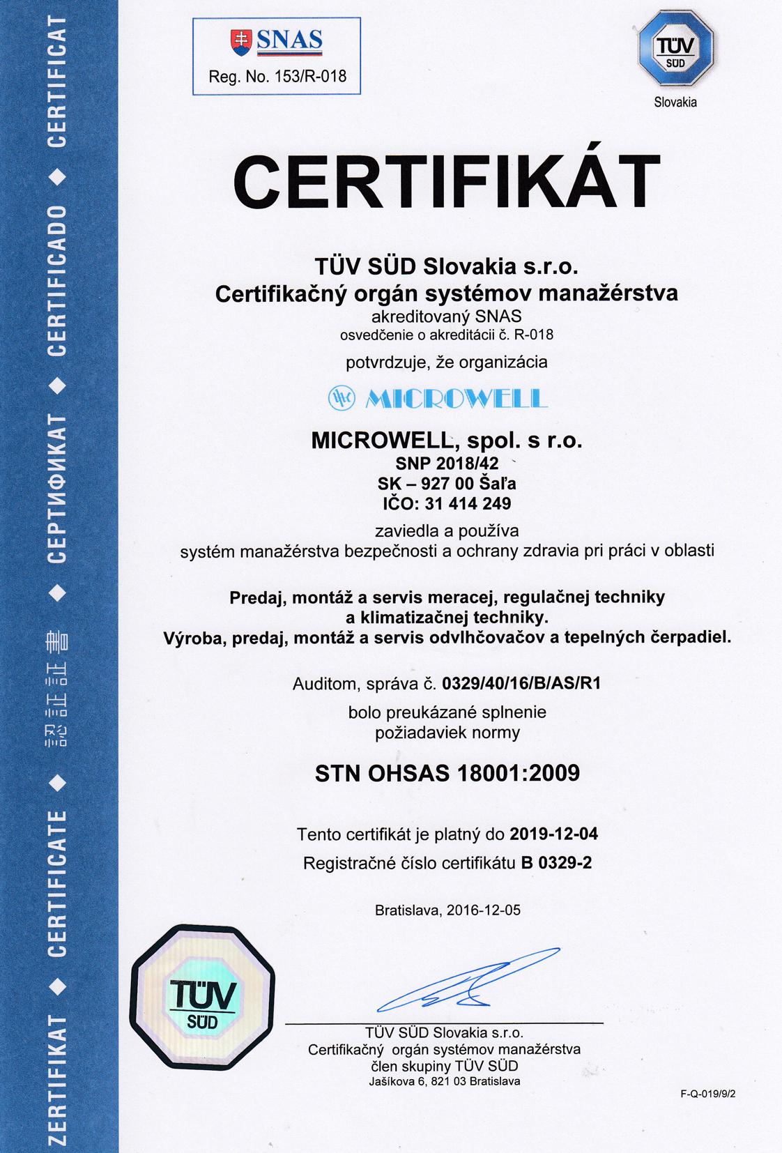 Sk certifikat 18001 2018
