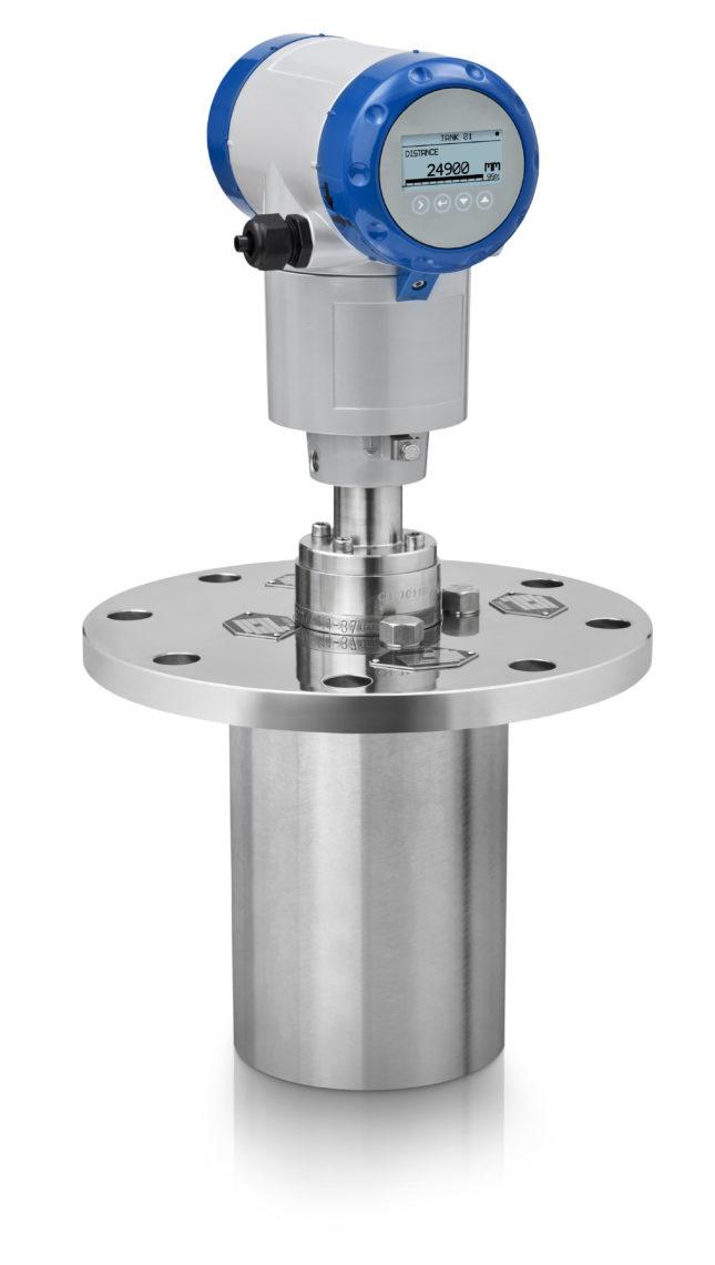 OPTIWAVE 5200 C horizontal metallic horn DN150 heating cooling purging