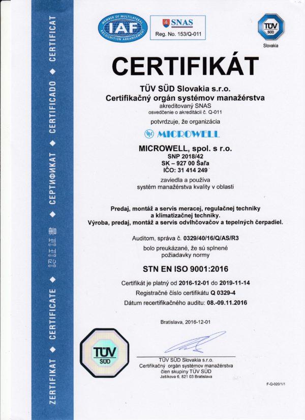 SK iso certifikat 9001